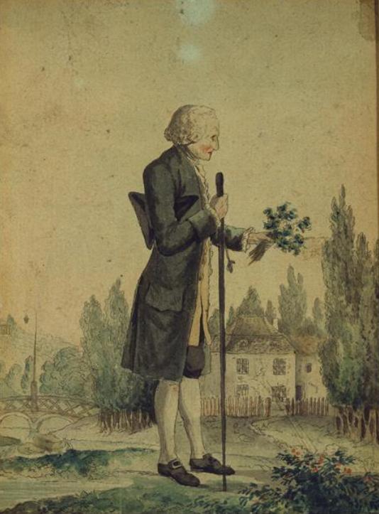 Georg Friedrich Meyer Rousseau herborise à Ermenonville à la veille de sa mort.png