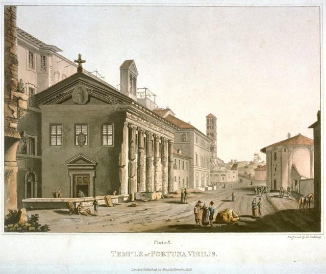 M. Dubourg, Le Temple de la Fortune virile en 1820.png