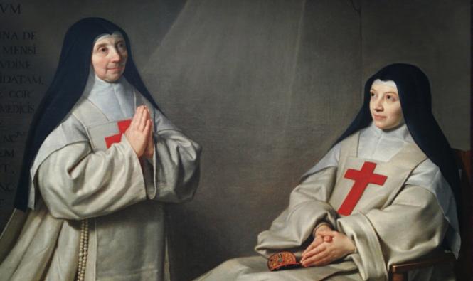 Philippe de Champaigne, La mère Arnault et la soeur Catherine de Champaigne.png