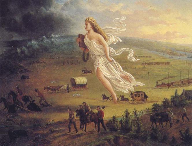 American Progress - John Gast - une allégorie de la destinée manifeste.png