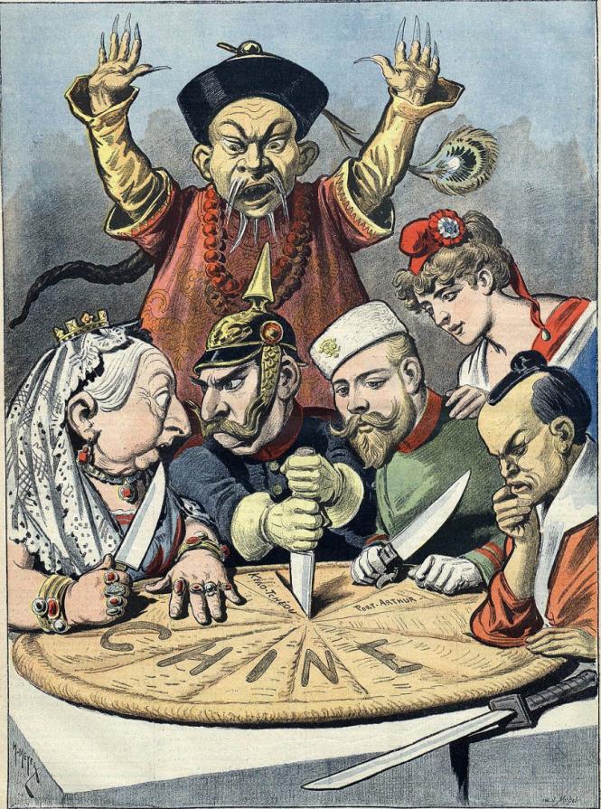Caricature française de 1898 -