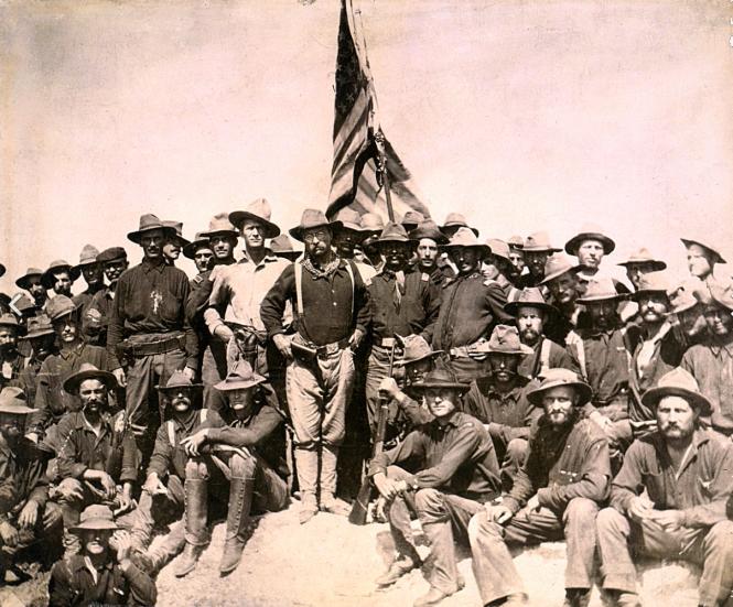 Théodore Roosevelt au milieu de ses