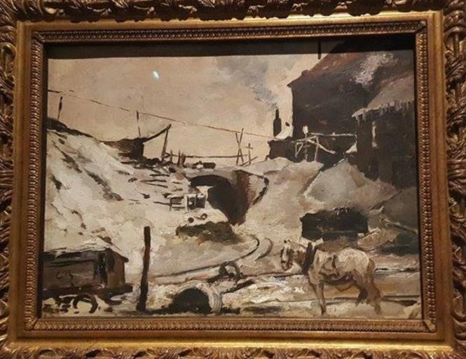 Constantin Meunier, Charbonnage sous la neige.png