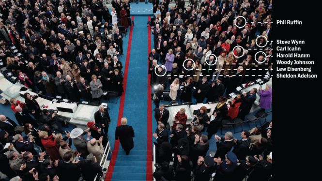 Quelques donateurs de la campagne de M. Trump lors de l'investiture.png