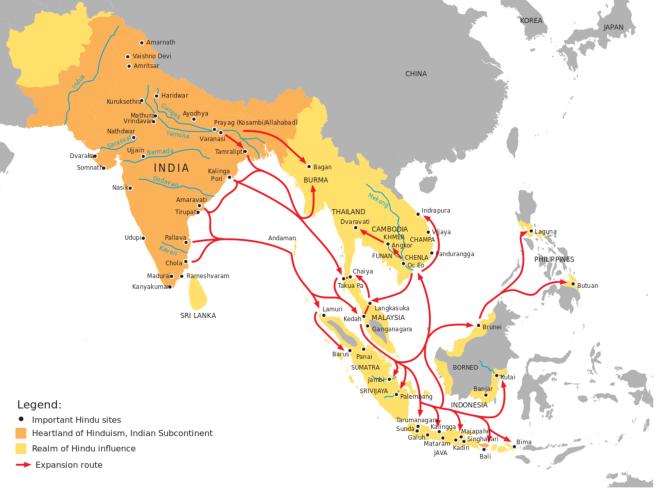 7e Le rayonnement de l'hindouisme dans lAsie du sud-est.png