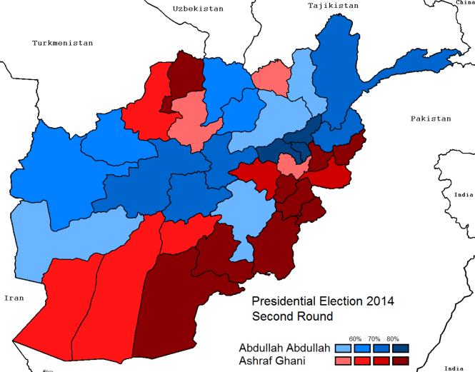 Election présidentielle afghane de 2014 deuxième tour.png