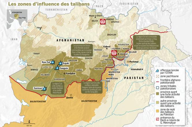 Zones d'influence des Talibans en 2016.png