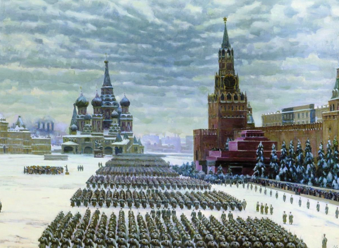 Konstantin Yuon, Parade place rouge.png