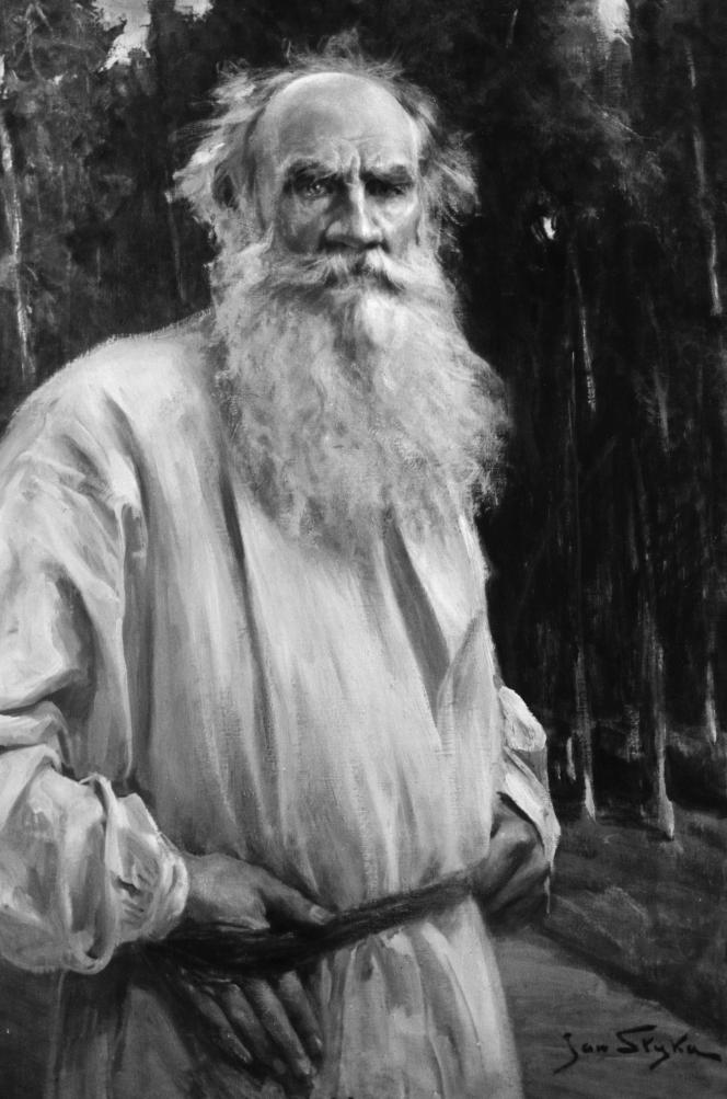 Jan Styka, Le comte Tolstoï âgé.png