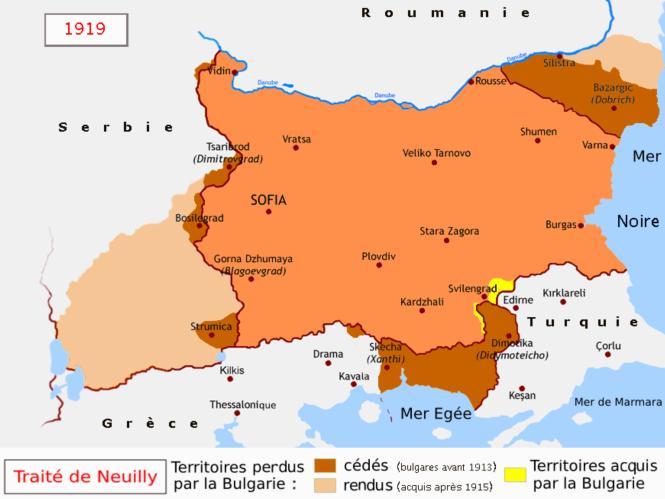La Bulgarie et le traité de Neuilly - 1919.png