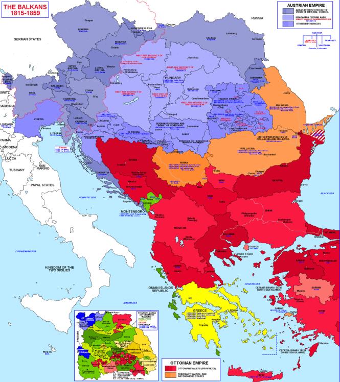26 Empire d'Autriche et Empire Ottoman au milieu du XIXe siècle.png