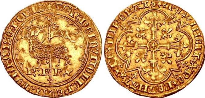 Agnel d'pr de Charles VI le Fol.png