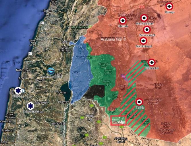 régions de Deraa et Quneitra en mai 2018.png