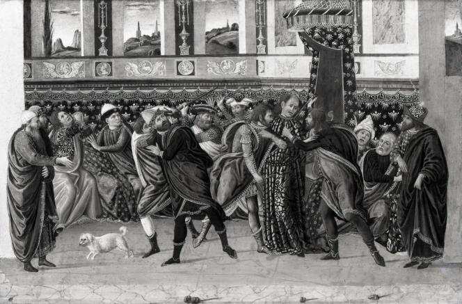 Jacopo del Sellaio hsp Le meurtre de César.png