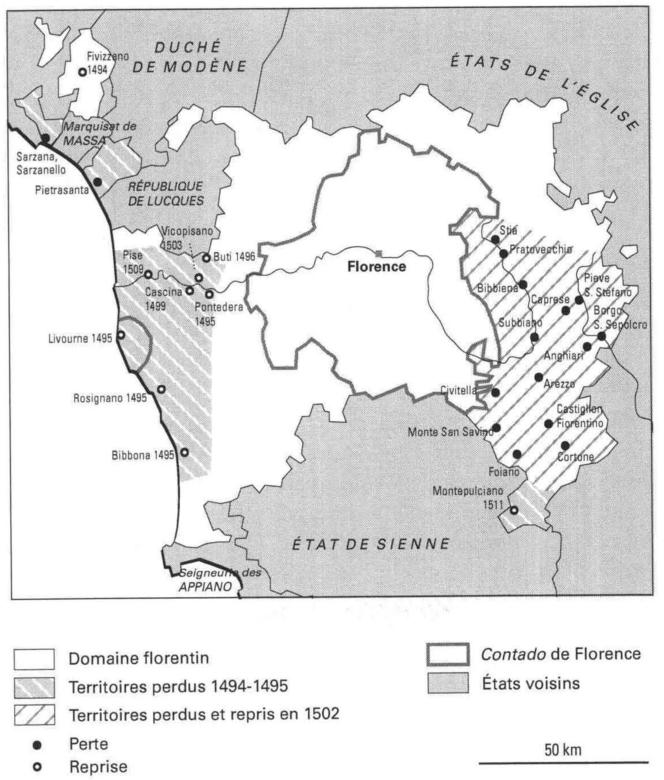 Les fluctuations du territoire florentin c. 1500.png