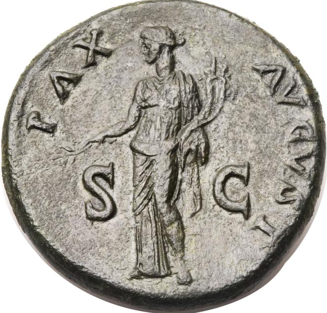 Pièce de bronze du règne de Titus 80-81 - pax august[i].png