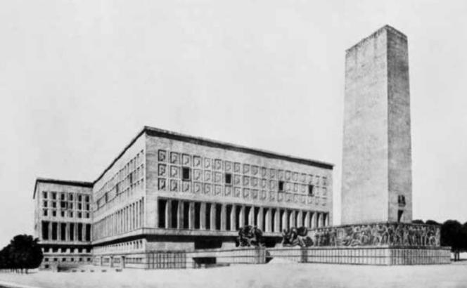 Projet de 1937 de l'équipe Morpurgo pour le Palazzo del Littorio.png