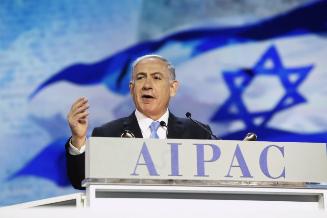 M. Netanyahu devant l'AIPAC le 2 III 2015.jpeg
