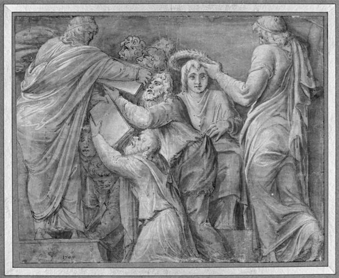 Polidoro Caldara, première moitié XVIe - Lycurgue et Numa.png