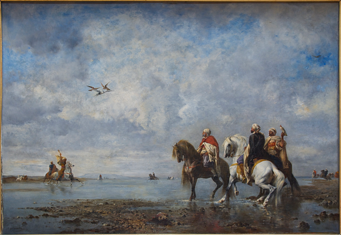 Fromentin, c. 1865, Chasse au héron.png