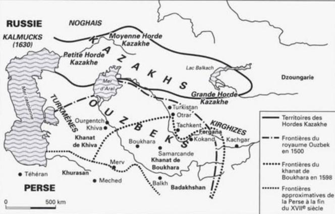 26 L'Asie centrale des Khanats au XVI XVIIe.png