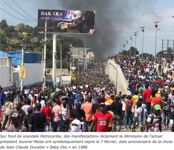Les manifestations à Haïti le 7 février 2019.png