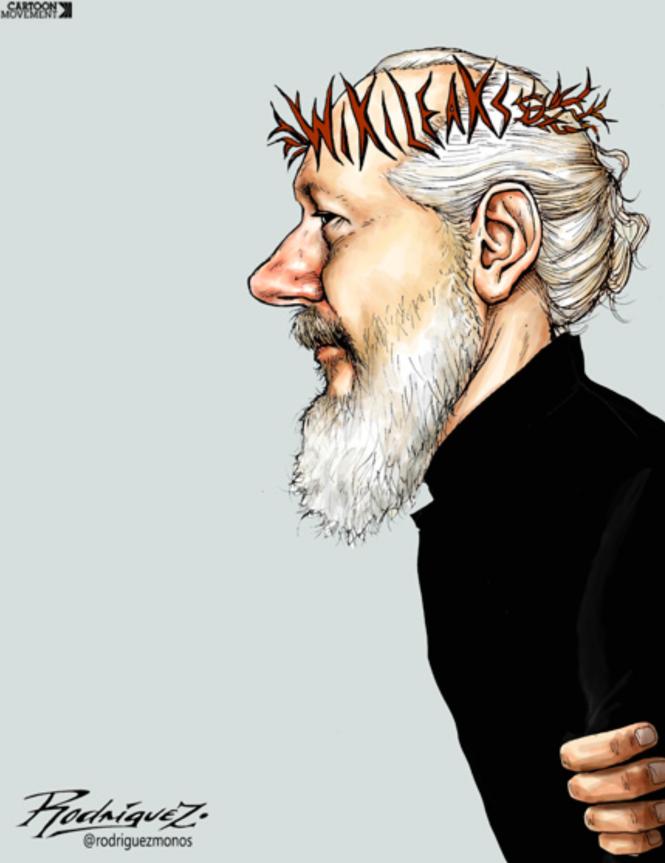 Antonio Rodríguez - Crown of Thorns. Julian Assange.png