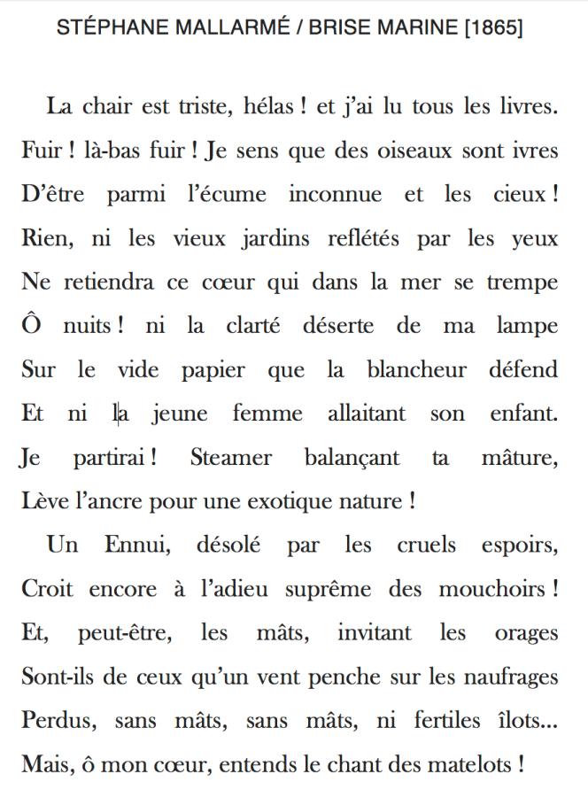 70 Brise marine de Stéphane Mallarmé - 1865.png