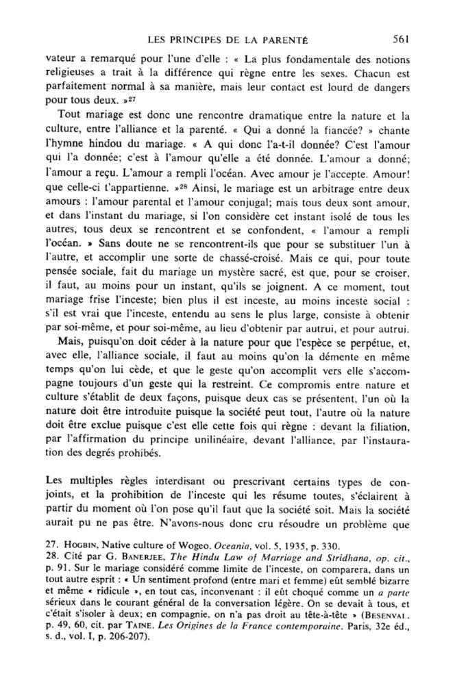 Une page fameuse de Levi-Strauss dans Les structures élémentaires de la parenté.png