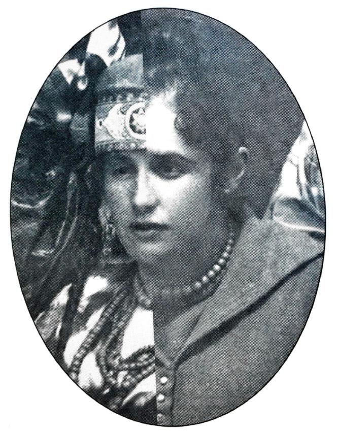 Photomontage de la compagne du photographe Henri Moser, à droite à l'occidentale, à gauche à la turkmène - c. 1870-1890.png