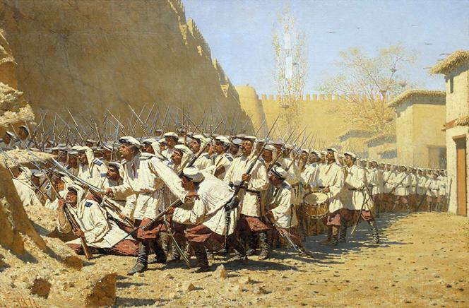 Vereshchagin, A l'assaut de la muraille - Samarcande - 1871.png