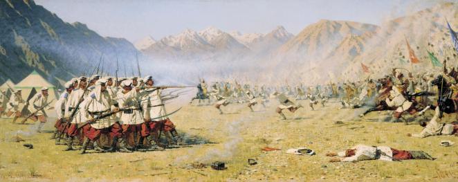 Vereshchagin, Attaque au dépourvu, 1871.png