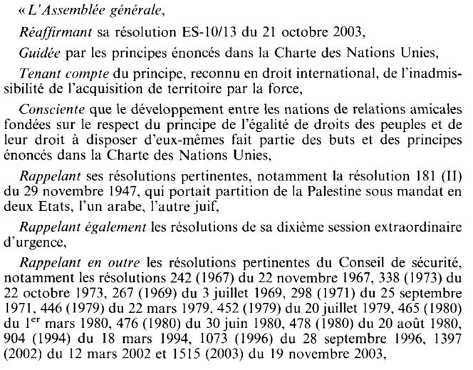 AGNU Résolution 8 XII 2003 saisissant la CIJ pour avis 1.png