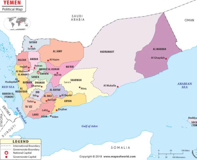 les gouvernorats du Yémen.png