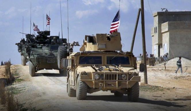 troupes étatsuniennes dans le nordest de la Syrie.png