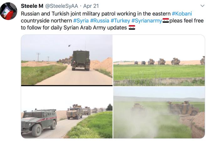5e patrouille conjointe turcorusse sur la M4 le 21 avril 2020.png