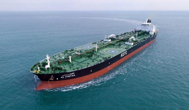 tanker iranien livrant supposément du pétrole à la Syrie en avril 2020.png